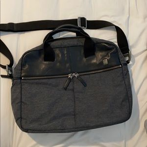 Tumi T Tech crossbody briefcase messenger bag.
